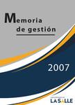 Memoria de gestión 2007