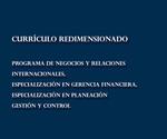 Librillo 49. Currículos redimensionados. Programa de Negocios y Relaciones Internacionales, Especialización en Gerencia Financiera, Especialización en Planeación Gestión y Control