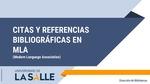 Guía Citas y Referencias MLA