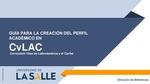 Guía para crear Perfil CvLAC Currículum Vitae de Latinoamérica y el Caribe