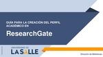 Guía para crear Perfil ResearchGate